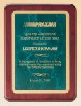 Rosewood Piano Finish Plaque with Brass Plate Achievement Awards