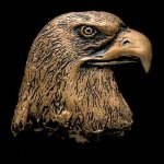 Eagle Head Bronze Accent Eagle Plaques and Awards