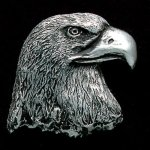Eagle Head Pewter Accent Eagle Plaques and Awards