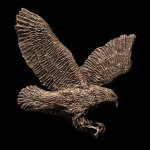 Flying Eagle Bronze Accent Eagle Plaques and Awards