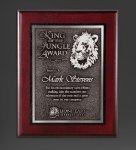 Cherry Finished Panel and Silver Tone Plate Employee Awards
