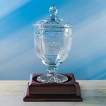 Worthington Lidded Trophy Glass | Crystal Cup Trophies